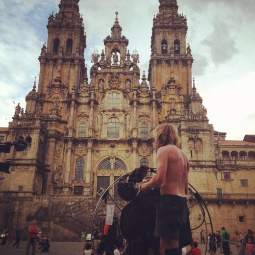 Arriving to Compostela
